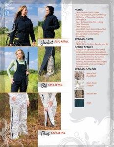 Haley Vines Catalog jacket and bib $250.00