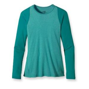 Patagonia Women's Capilene 2 Lightweight Crew in Turquoise and Seafoam 45.00