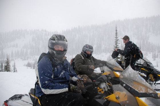 Snowmobiling Canyon Creek Recreation Area, West Glacier, Montana