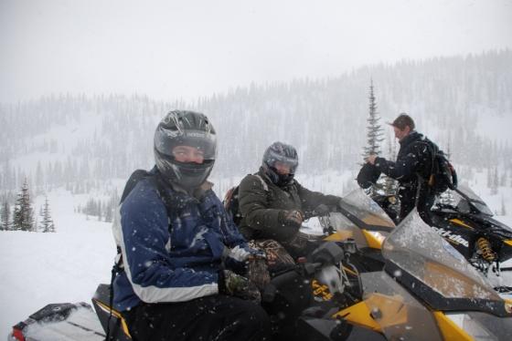 Snowmobiling Canyon Creek Recreation Area, West Glacier, Montana
