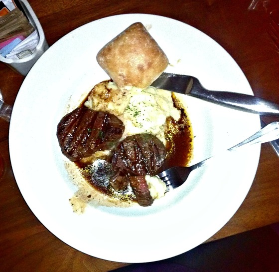 Beef Tenderloin with Rosemary and Garlic potatoes at Hop's