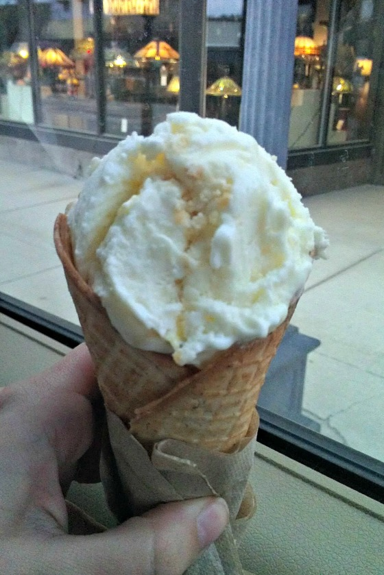 Lime Curd and Shortbread homemade ice cream from Sweet Peaks