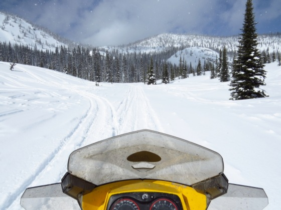 View from my Snowmobile