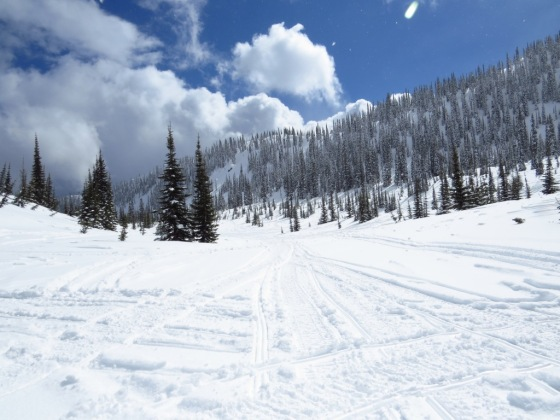A snowmobiler's playground!