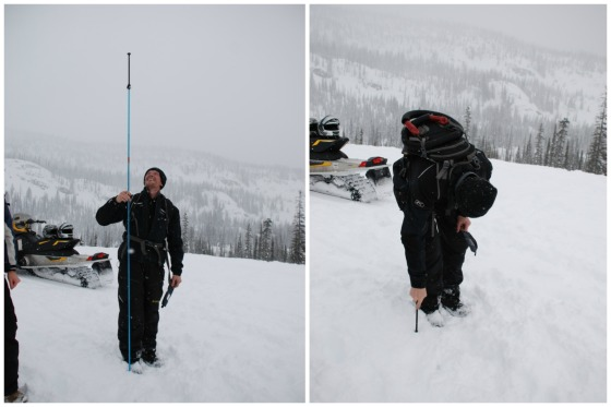 The snow was over 10 feet deep!  And we were standing on it!