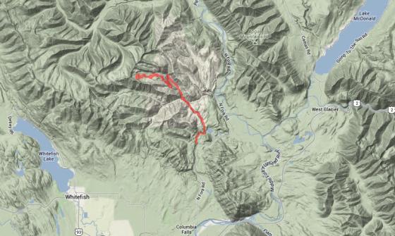Snowmobiling West Glacier