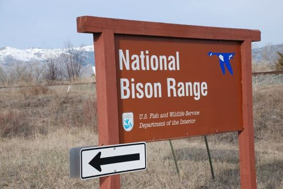 National Bison Range Sign